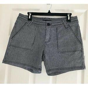 PrAna Striped Shorts - Size 10 - EUC